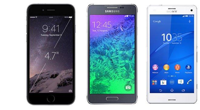 Samsung-Galaxy-Alpha-vs-iPhone-6-vs-Lumia-930-vs-Z3-Compact