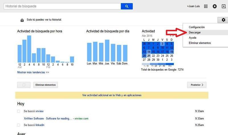 ¿Cómo descargar el historial de busqueda de Google? - Image