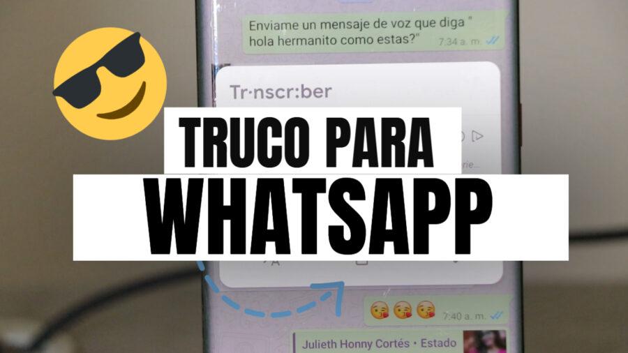 trucos para whatsapp,aplicaciones para android,Transcriber for WhatsApp,app android,happytech,audios whatsapp, escuchar audios whatsapp,secretos en whastapp